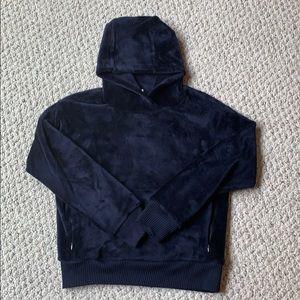 Athleta Girl navy blue super cozy hoodie